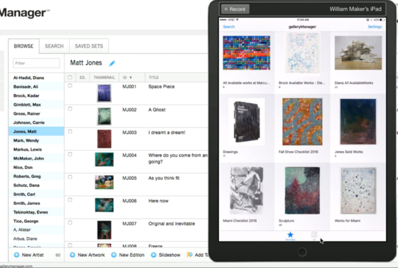 Our iPad and iPhone app gives you the ability to sync your Static Sets and selections of artworks wi...